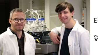 Diagnostikföretaget Elyptas vd Karl Bergman (t v) och doktor Frencesco Gatto (t h). Elypta driver ett brett utvecklingsprogram inom cancer baserad på forskning från Chalmers.