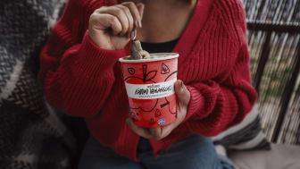 Räddad veganglass med smak av Äpple och kanel med Digestivekex från Göteborgs Kex.