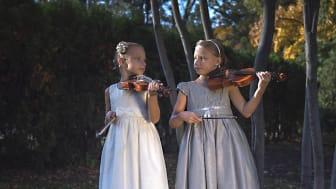 11-åriga tvillingarna Sofia och Anna Kyslyak är två musikbegåvningar som medverkar i festivalen.