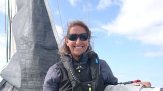Sailor Dee Caffari was wearing the Ocean Signal rescueME MOB1 when she fell overboard during this year's SoCal 300 race from Santa Barbara to San Diego