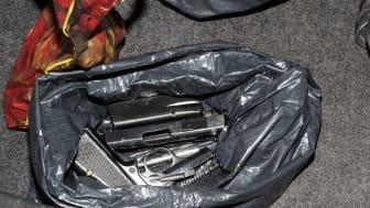 Firearms in bag