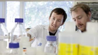 James Tribble och Pete Williams vid KI/S:t Erik är två av forskarna bakom glaukomstudien. Foto: Johanna Hanno