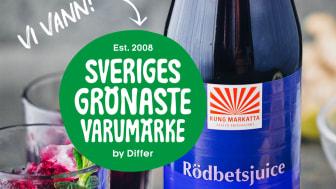 Kung Markatta - Sveriges grönaste varumärke (bild med rödbetsjuice)