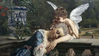 Julius Kronberg, Insomnad, 1883. Olja på duk, 110 x 130 cm. J.A. Bergs samling. Stockholms Universitet. Foto: Jean-Baptiste Béranger