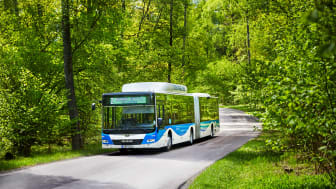 Svealandstrafikens biogasbuss som kör Linje 2 i Västerås på uppdrag av VL