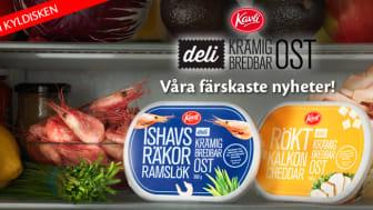 Vår färskaste nyhet!  Ett nytt modernt bredbart pålägg; Kavli Deli – krämig bredbar ost.
