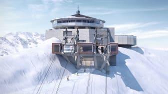 Schilthornbahn 20XX: Visualisierung der künftigen Bergstation Schilthorn-Piz Gloria