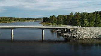 Vy över den nya Fåröbron. Foto: NCC