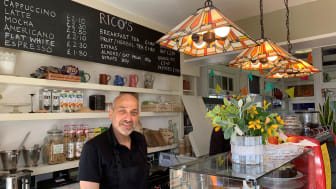 Hassan Atta (pictured) and his wife Kate have opened Rico's Coffee in St Neots (you can download this and other pictures below)