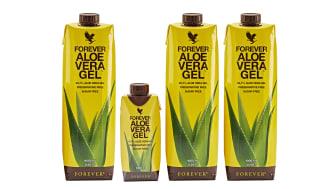 Nya Forever Aloe Vera Gel i mini-förpackning är perfekt att ta med i väskan eller på resan.