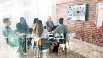 Våra möten består idag mest av digitala möten och hybridmöten
