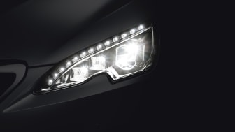 Strålkastarna på nya Peugeot 308