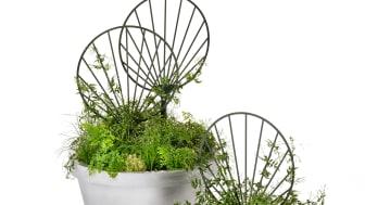 Gro blomspaljé design Mia Cullin. Nyhet 2020 Folke planteringskärl, design Karna Lindstedt