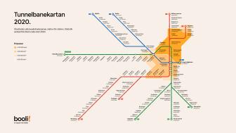 Tunnelbanekartan 2020 zoner
