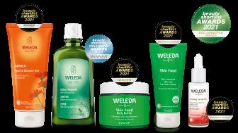 Weleda har vunnit pris i sju kategorier i internationella Beauty Shortlist Awards 2021
