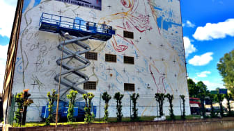 Borås första riktigt stora muralmålning tar form