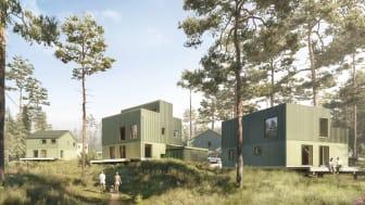 Ett dynamisk villaområde i samspel med naturen