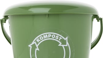 Komposthink med lock 5 liter