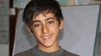 Amir, 12 år, i flyktinglägret Al Hol, Syrien.