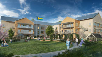 Förenade Care och Skanska erbjuder kvalitet och påkostad miljö i nybyggt särskilt boende i Skurup.