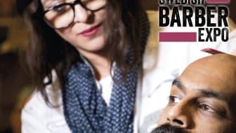 Cari Forsgren tävlar för Stockholm i Swedish Barber Expo Barber Battle 2017