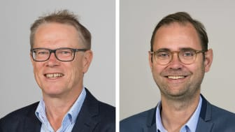 Håkan Gillisson och Mathias Bengtsson är två nya medarbetare på Nordic PM i Helsingborg. Foto: Max Sjögren
