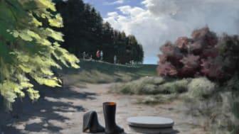"""Poul Anker Bech: """"En drift mod havet"""", 2007. Hammerslag: 300.000 kr."""