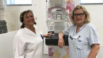 Maria Borras Sastre, sektionsledare, och Ann-Britt Larsson, enhetschef på mammografiverksamheten i Linköping.