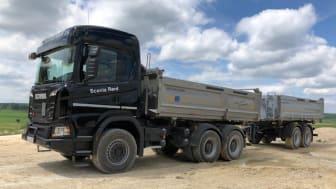 Das Multitalent für den Bau: der Scania G 450 XT als 6x4-Kipper.