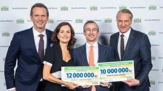 Svenska Postkodlotteriet fortsätter att stödja Hand in Hand med ett ökat basstöd på 10 miljoner kronor.