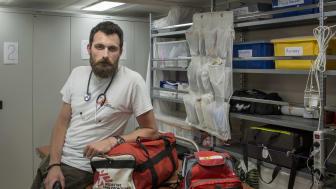 Luca Pigozzi, läkare ombord på Ocean Viking. Foto: Anthony Jean/SOS MEDITERRANEE