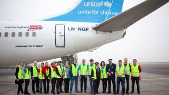 Medarbetare från Norwegian och UNICEF redo att hjälpa utsatta barn till en bättre framtid
