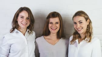 Die drei Selfapy-Gründerinnen Katrin Bermbach, Farina Schurzfeld und Nora Blum (v.l.n.r.)