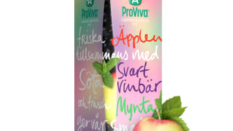 ProViva lanserar en somrig favorit i repris - Frisk och fräsch smak av Äpple-Svartvinbär-Mynta!