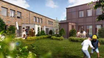 Lyckos kommer att bygga ytterligare 24 radhus i Stationsstaden, Kävlinge.
