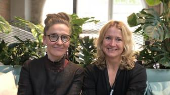 Programledarna för Sting Test Drive Edtech (fr. vänster): Jannie Jeppesen och Karin Ruiz