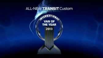 Nya Ford Transit Custom utsedd till International Van of the Year – juryn lyfter fram körglädjen och de låga ägandekostnaderna