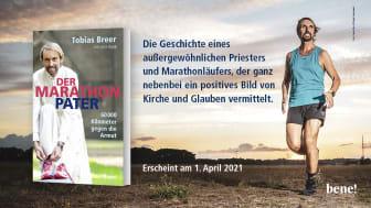 Der Marathon-Pater - ab 1. April überall, wo es Bücher gibt