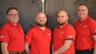 Några av de frivilliga sjöräddare från RS Kronoberg som nominerats till Årets Sjöräddare.