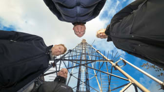 Samarbetet mellan Elektroskandia, Getel och Ericsson är mycket givande och värdefullt. På bilden fr v.Christopher Lindberg, Getel, Stefan Browall, Elektroskandia, Johan Jacobsson, Ericsson och Urban Ögren, Ericsson.