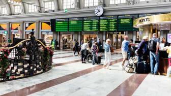Stockholms centralstation. Bild lånad av Jernhusen.