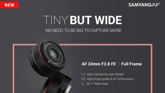 Weitwinkel Pancake lens - TINY BUT WIDE - New AF 24mm F2.8 FE / Full Frame - NO NEED TO BE BIG TO CAPTURE MORE