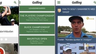 """Traveas Sports Media lanserar """"Golfing.se"""" som mobilapp - ett Omni för golfälskare"""