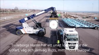 Film - Intermodal järnvägstrafik i Trelleborgs Hamn