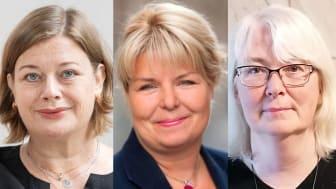 Fr v Malin Ragnegård, Kerstin Wallentin och Lise-Lott Fjell.