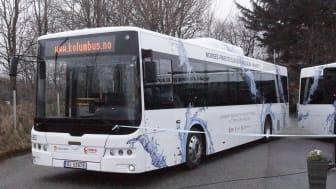 Landets første elbuss i ordinær rute