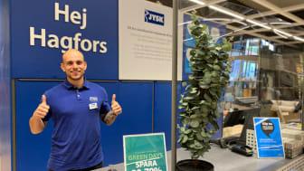 Tim Rom Widström är butikschef för den helt nya JYSK-butiken i Hagfors.