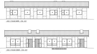 Fasadritning nybyggnation lägenheter Bredaryd.