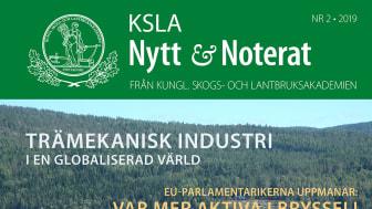 KSLA Nytt & Noterat 2-2019