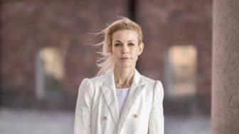 Anna König Jerlmyr (M) Finansborgarråd, Stockholms stad. Foto: press.